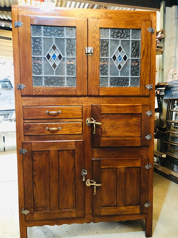 Restored antique unit closed