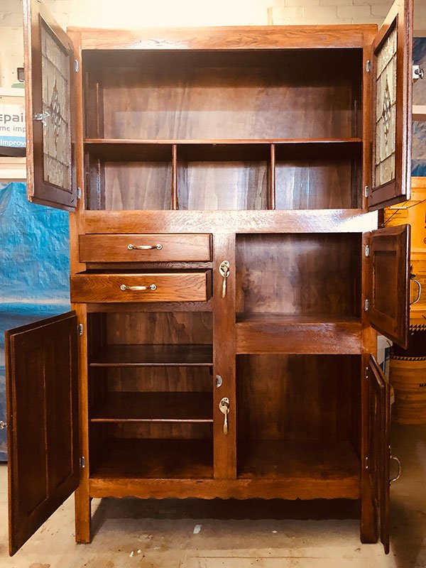 Restored antique unit open