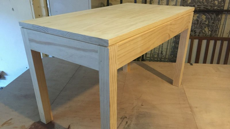 One off commissioned coffee table to match clients existing table that are no longer available for purchase.
