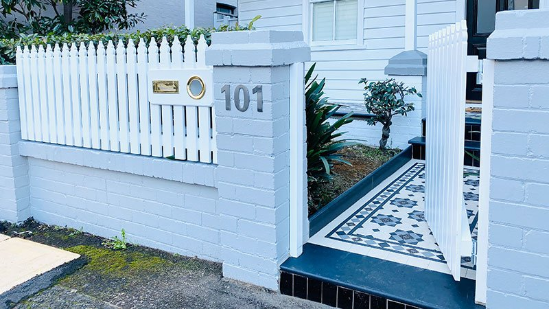 Classic picket fence and gate