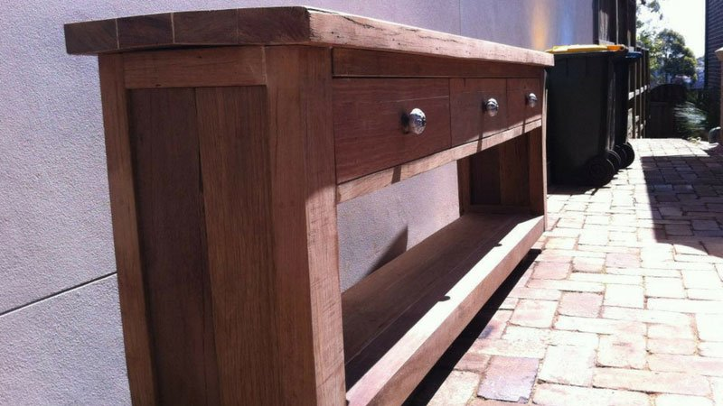 Reclaimed Timber TV Stand