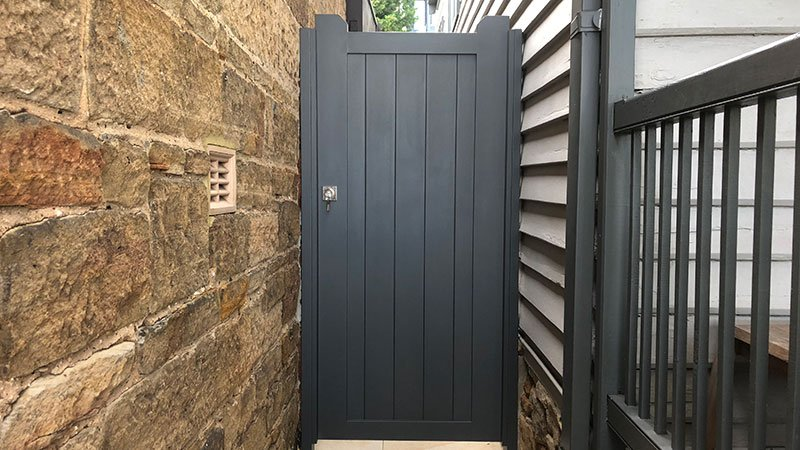 Custom built side gate