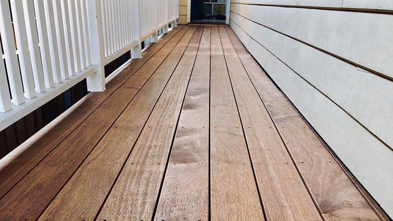 Merbau veranda decking