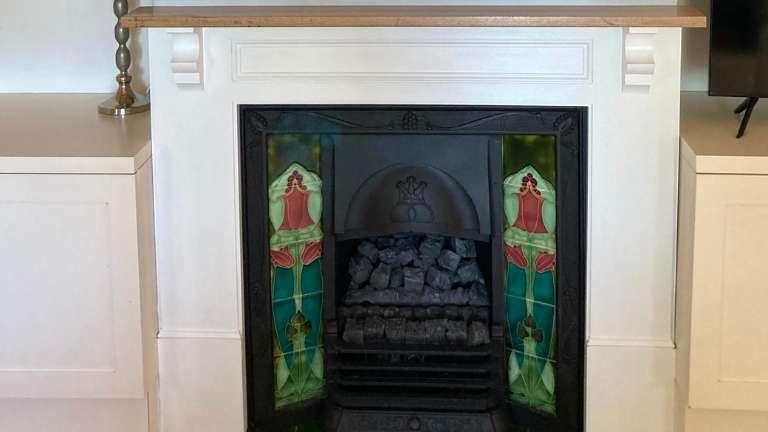 Custom timber fire surround