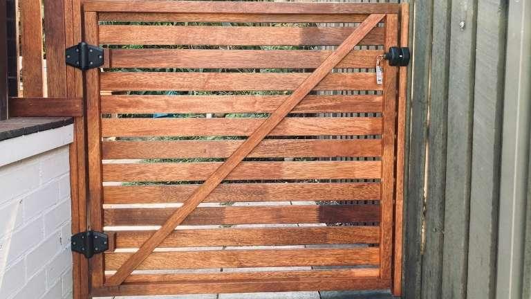 Hardwood Merbau garden gate