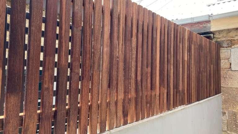 Hardwood Merbau privacy screen